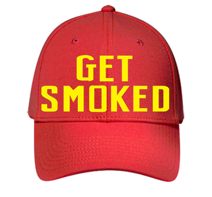 55e044b9 GET SMOKED Baseball Cap - Custom Heat Pressed Low Profile Otto A-Flex Wool  Blend Otto Cap 94-528 (SM) 8A5CDBB171E2