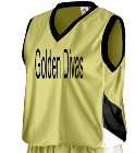 Golden Divas - Custom Embroidered Augusta Youth Basketball Tri-Color Dazzle Game Jersey - 769 DAE2A46659C0