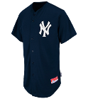 Andrews -ANDREWS -ANDREWS  - Custom Embroidered Yankees Full Button Baseball Jersey - Adult 07EC7853BCC6