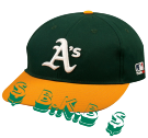 -BKB- 14 BKB  Oakland A's Official MLB Hat for Little Kids Leagues OCMLB300