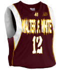 Walter .F. White PS 41 away - Custom Embroidered Youth Basketball Jersey - Buzzer Beater Series - Teamwork Athletic - 1489 AFF93B75468F