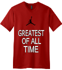 GREATEST-OF ALL -TIME - Custom Screen Printed V-Neck Tee D5981318DAE4