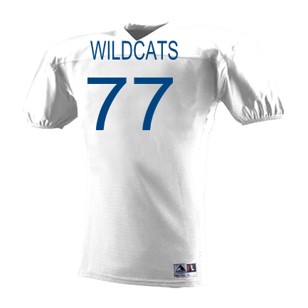 ce8de64bd2a WILDCATS-77-HEAD-77 - Custom Heat Pressed Youth Intimidator Football Jersey  - 9511 Youth Small 58A94D8AB3ABA
