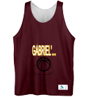 GABRIEL'S BALL SQUAD - Custom Heat Pressed Youth Reversible Basketball Uniforms - Augusta -137 A630E86389AB