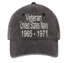 Veteran-United States Navy-1965 - 1971-Diver -Diver - Custom Heat Pressed Low Profile Otto A-Flex Stretchable Washed Denim Otto Cap 94-613 (LXL) 612DCDEF5362