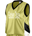 Golden Divas - Custom Embroidered Augusta Youth Basketball Tri-Color Dazzle Game Jersey - 769 70FB4E7FE082