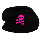 Pirate - Custom Heat Pressed Hipster Slouch  Beanie   - 146_1069 55DA75C4AA64