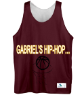 GABRIEL'S BALL SQUAD - Custom Heat Pressed Youth Reversible Basketball Uniforms - Augusta -137 973816468A16