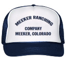 Meeker ranching - Custom Screen Printed Trucker Hat 39-169 46195AA79BBB