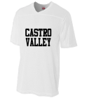 CASTRO-VALLEY-player name  - Custom Heat Pressed Adult Fan Football Jersey - N4212 2B800E7A41AC