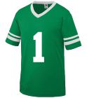 Johnny - Custom Heat Pressed Old School Youth Football Fan Jersey  - Augusta 361 C44338AD8987