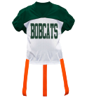 BES-BOBCATS10 DISCONTINUED Adult Official Flag Football Jersey - 1358