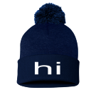 hi - Custom Embroidered Pom Pom Knit Beanie - SP15 662D0EECDEFF