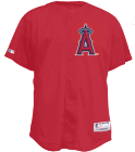 A-Alvarado21 WILSON7 Angels Official MLB Full Button Youth Jersey - MAHD684Y
