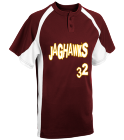JAGHAWKS-32-00 - Custom Heat Pressed Adult Line Drive 2-Button Baseball Jersey - 1230P D0519CC0EE25
