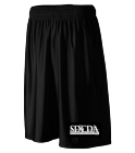 SDCDA Basketball Shorts - Custom Embroidered Youth Dazzle Long Shorts  - 927 46CA1C498970