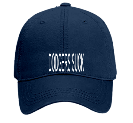 DODGERS SUCK - Custom Heat Pressed Youth Low Profile Pro Style Hat Otto Cap  64-787