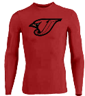 Logo design - Custom Heat Pressed DISCONTINUED Adult Stretch Tight Long Sleeve Jersey - Teamwork Athletic - 1822 45BA52D44F97