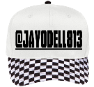 checkerboard Odell - Custom Heat Pressed Pro Style Pre Printed Otto Cap 56-082 077ADD7DA307