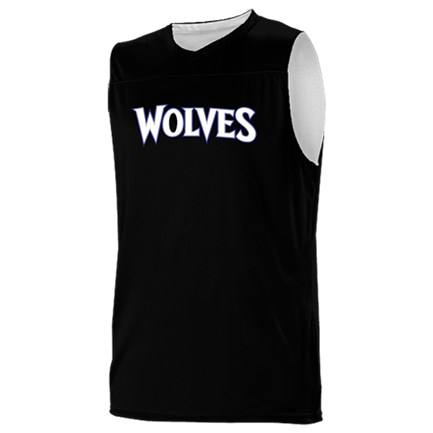half off ae9d4 6b80e Wolves - Custom Heat Pressed Minnesota Timberwolves Youth Reversible  Basketball Jerseys - A105LY-WOLVES Youth Small