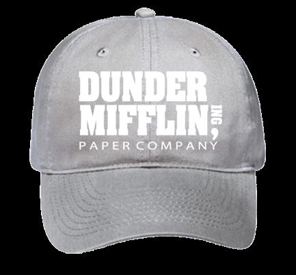 Dunder Mifflin Dad Hat - Custom Heat Pressed Low Pro Style Hat - 18-010  54B63FCD38B2 9ed16028310