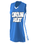 Carolina Heat - Custom Heat Pressed Girls Wicking Mesh Jersey  - 528 44A9DF5ED860