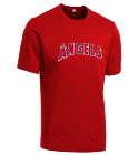 DIAMOND-27 - Custom Heat Pressed Angels Youth Wicking MLB Replica Jersey - M1261 3AF9CD4BD740