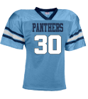 PANTHERS-30-GOTTSHALL-30 - Custom Heat Pressed YouthTeam Football Jersey - Teamwork Athletic -1314 81FE765A538A