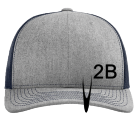 2b - Custom Embroidered Cotton Twill Mesh Snapback - 112 27DD0B455CE3