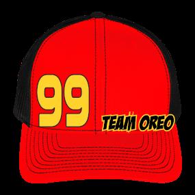 TEAM OREO-99 - Cotton Twill Mesh Snapback - 112 - Custom Heat Pressed -  CustomPlanet.com a0df26d87c63