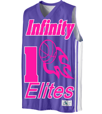 Infinity Elites - Custom Heat Pressed Youth Basketball Jerseys   Uniforms  Reversible - 756 Youth Small D1394856BAC1A aeb510034