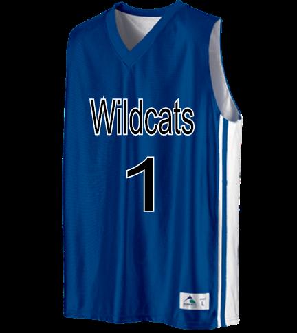 3ceba833274 Wildcats-1-Aaron-1 - Custom Heat Pressed Youth Basketball Jerseys   Uniforms  Reversible - 756 Youth Small AAD93F969544A