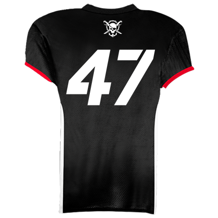 a44ed67fabe RAIDERS JERSEY - WHITE ON BLACK JUNIOR - Youth Tackle Football ...