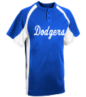 Dodgers - Custom Heat Pressed Adult Line Drive 2-Button Baseball Jersey - 1230P 935B8EB2FEEF