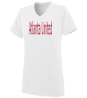 Atlanta  - Custom Heat Pressed Ladies V-Neck Wicking Jersey  - 1072 658BE43365A7