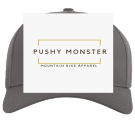 pushy monster  - Custom Embroidered Cotton Snapback Two Color Hat - 212 C5B549F38FC4