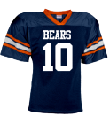 bears new - Custom Heat Pressed YouthTeam Football Jersey - Teamwork Athletic -1314 3780A56E0486