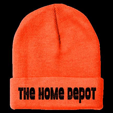 f88856ba5f1bc HOME DEPOT - Custom Heat Pressed Fold Up Cuff Beanie 83E03674C4FF