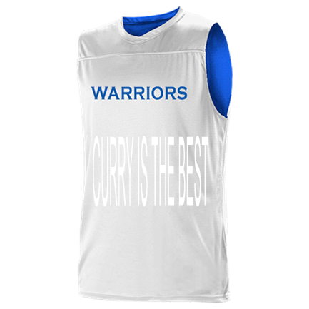 reputable site b70c4 193a5 CURRY IS THE BEST - Custom Heat Pressed Golden State Warriors Youth  Reversible Basketball Jerseys - A105LY-WARRIORS Youth Small