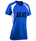 BLUE JAYS - Custom Heat Pressed Womens Softball Tee Torrent Tech - 1043 FB6497A57AF1