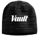Dark Vault Beanie - Custom Heat Pressed Heathered Beanie - District Threads DT620 89968270658F