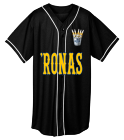 'Ronas - Custom Heat Pressed Adult Full Button Wicking Mesh Jersey  - 593 A1C43FE9E31E