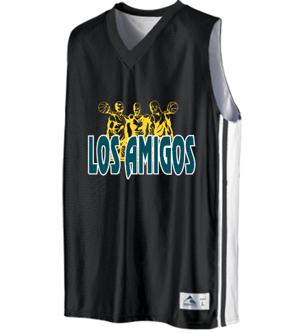 LOS AMIGOS - Custom Heat Pressed Youth Basketball Jerseys   Uniforms  Reversible - 756 Youth Small D2D23563A898A b8269df20