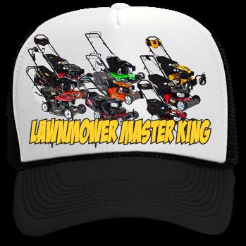 LAWNMOWER MASTER KING - Custom Heat Pressed Neon Trucker Hat | Neon  Snapback 6801