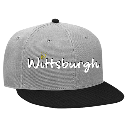 d404d2565a41b Wittsburgh - Custom Embroidered Snapback Flat Bill Hat - 125-978  A85FF14AC20F