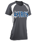 Astros - Custom Heat Pressed Womens Softball Tee Torrent Tech - 1043 4BE8AD849976