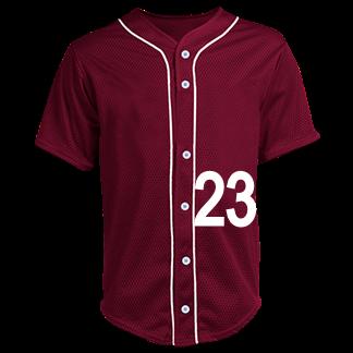 low priced 42212 ff31e 23-Jordan-23 - Custom Heat Pressed Adult Full Button Baseball Jersey - N4184