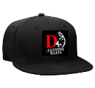 DJ Custom  - Custom Heat Pressed Snapback Flat Bill Hat - 125-978 576263CE7042