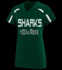 sharks Girls V-Neck Softball Jersey