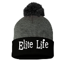 Elite Life-E T M - Custom Heat Pressed Pom Pom Knit Beanie - SP15 21C46ECAC52F
